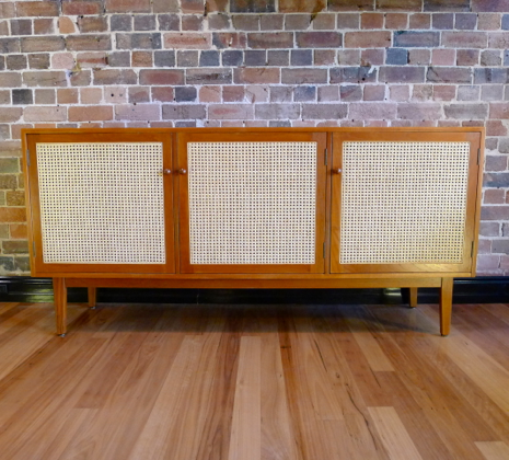 Rattan Fronted 1950s Buffet