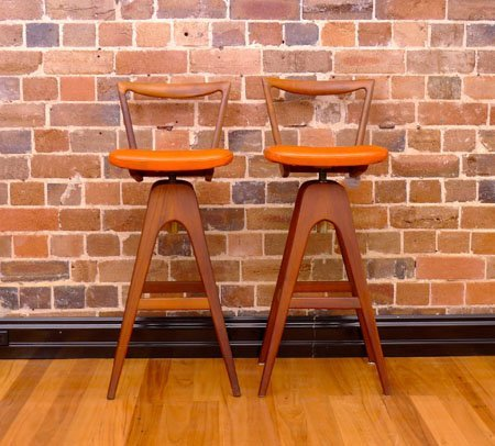 Th Brown Bar Stools Collectika Vintage And Retro