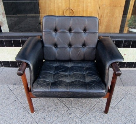 Vintage Black Leather Armchair Collectika And